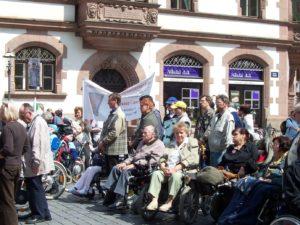 Demonstration zum Aktionstag für menschen mit Behinderungen. 2010