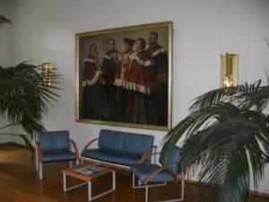"""Gemälde von Eugen Urban: """"Karl Binding und die Dekane des Jubiläumsjahrs 1909"""""""